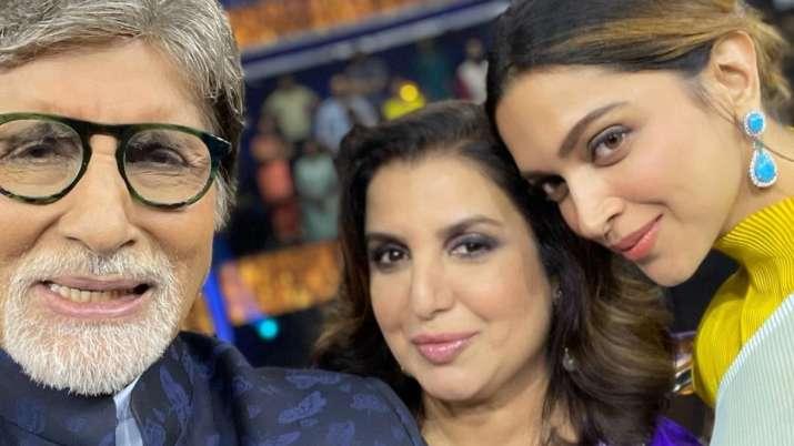 Farah Khan, Amitabh Bachchan, Deepika Padukone
