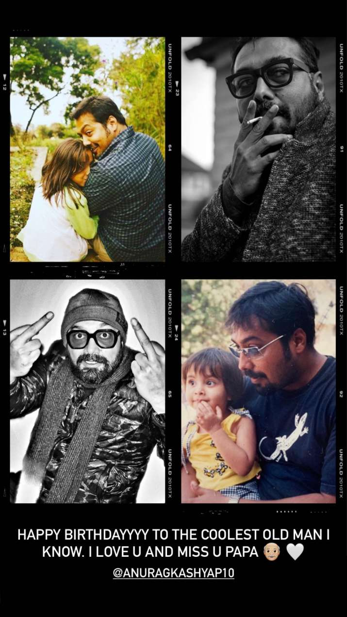 India Tv - On Anurag Kashyap's birthday daughter Aaliyah shares endearing post for her 'coolest old man'