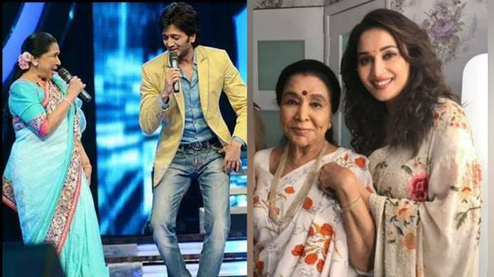 Birthday wishes pour in for Asha Bhonsle from Madhuri Dixit, Riteish Deshmukh and other celebs