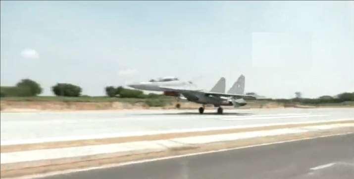 Rajnath, Gadkari inaugurate emergency landing strip for IAF