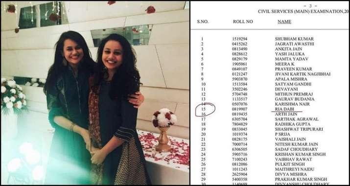UPSC CSE 2020: IAS Tina Dabi's sister Ria Dabi bags 15th