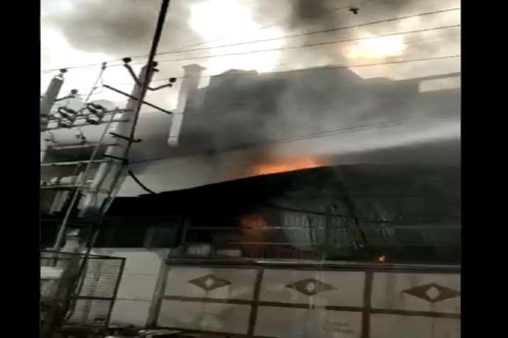 Delhi: Huge fire breaks out at factory in Bawana area,