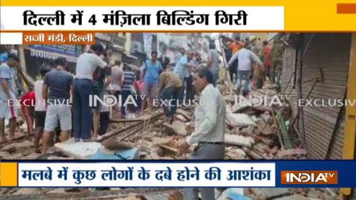 delhi building collapse sabzi mandi
