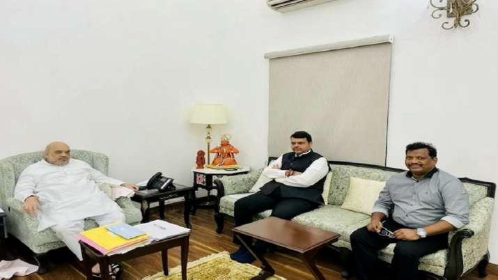 Devendra Fadnavis, Fadnavis meets amit shah, Amit Shah, meeting discussion, Goa Assembly polls, Maha