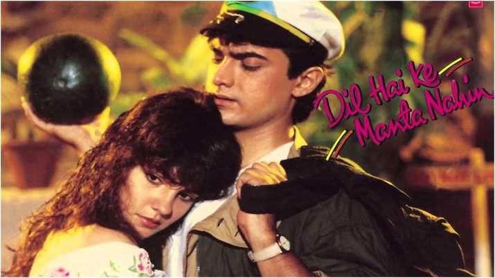 Poster of Aamir Khan-Pooja Bhatt starrer Dil Hai Ke Manta Nahin
