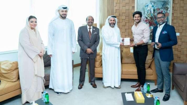 Actor Dulquer Salmaan receives UAE's Golden Visa
