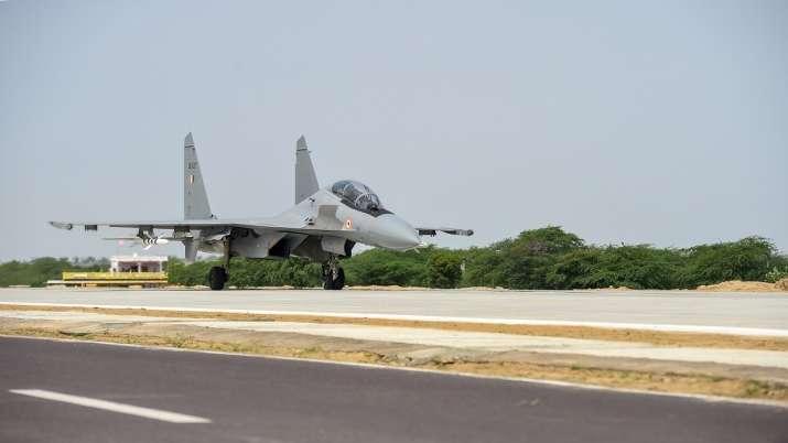 Gadkari, iaf, emergency landing strip, rajnath singh