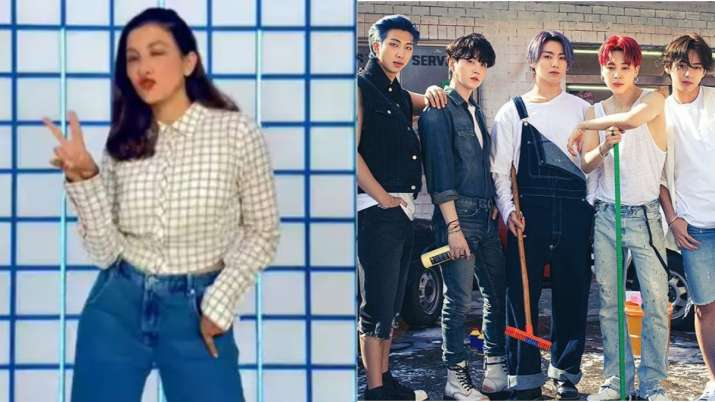Gauahar takes on BTS' Permission to Dance challenge