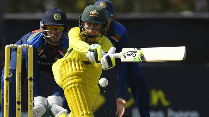 Rachael Haynes of Australia bats during game one of the