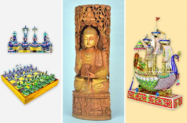 India Tv - Meenakari chess set, sandalwood Buddha statue: What all PM Modi gifted to Kamala Harris, Suga & Morrison