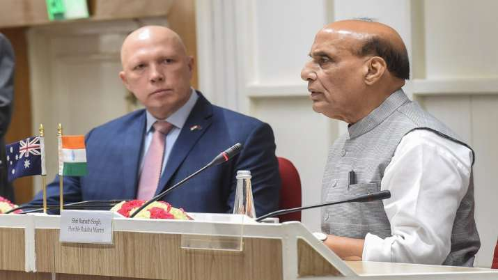 defence minister, rajnath singh, india, australia, afghanistan crisis