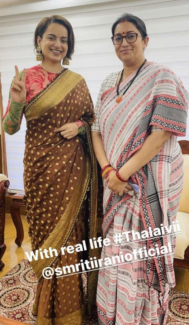 India Tv - Kangana Ranaut meets Smriti Irani