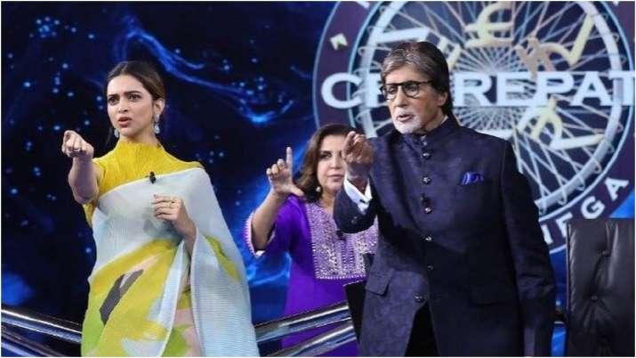 Deepika Padukone, Farah Khan, Amitabh Bachchan on KBC 13