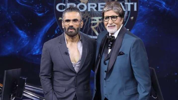 Kaun Banega Crorepati 13: Suneil Shetty gets 'wonderstruck as always' after meeting Amitabh Bachchan