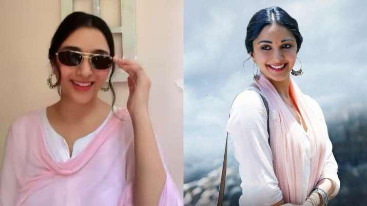 Kiara Advani's lookalike recreates her Shershaah look