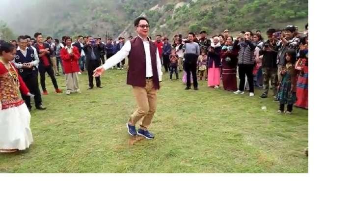 kiren rijiju, dance video, arunachal pradesh, law minister