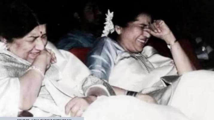 Lata Mangeshkar shares sweetest throwback picture to wish sister Asha Bhosle on birthday