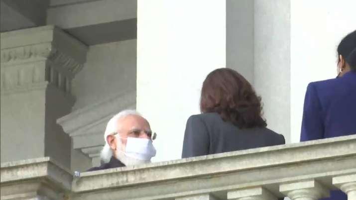 Modi meets Kamala Harris