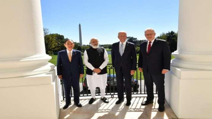 PM Narendra Modi with Quad members - US President Joe