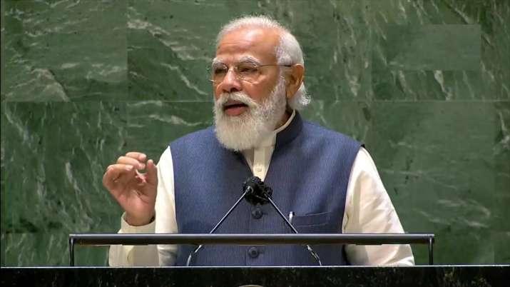 PM Modi speaks at UNGA, addresses 'global Covid situation'