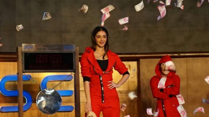 Money Heist 5: Ananya Panday rings in final season at BSE amidst money shower | See pics