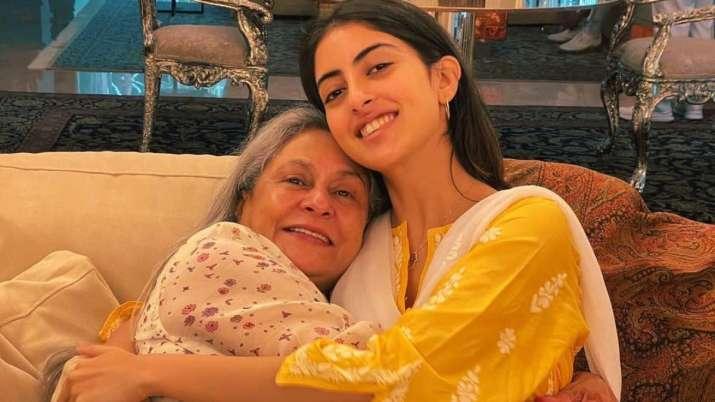 Navya Naveli Nanda shares cute pic with nani Jaya Bachchan