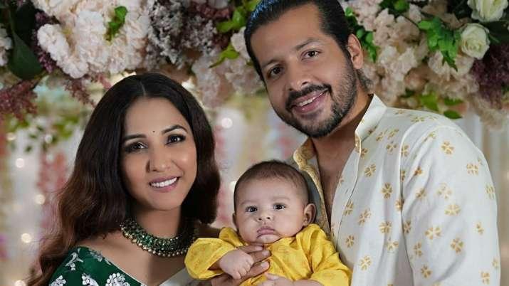 Neeti Mohan, Nihar Pandya share first photos of son Aryaveer revealing his face