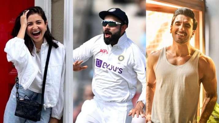 Ranveer Singh, Anushka Sharma cheer for Indian cricket team