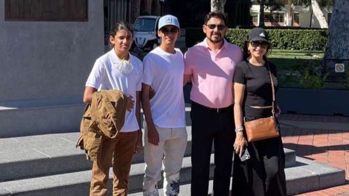 Madhuri Dixit, Dr. Nene are proud parents as son Arin joins university in US; see pics