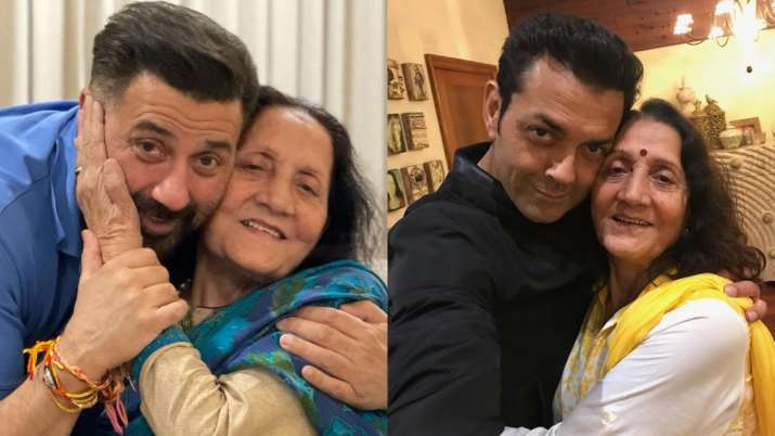 Sunny Deol, Bobby Deol share adorable pics with their mother on her birthday