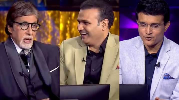 KBC 13: Big B reveals to Sourav Ganguly how he sang National Anthem before India-Pak WC match