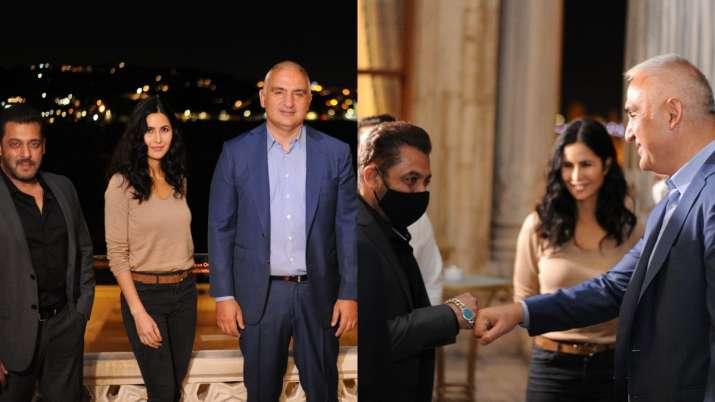 Salman Khan, Katrina Kaif meet Turkish minister, snapped at lunch together post Tiger 3 shoot