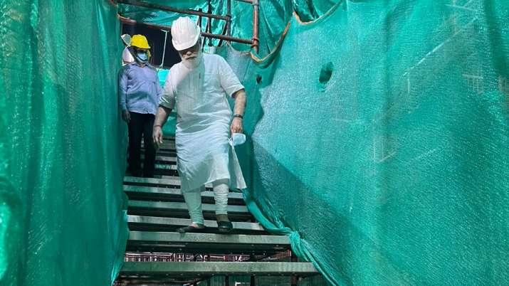 India Tv - PM Modi visit new Parliament building construction site