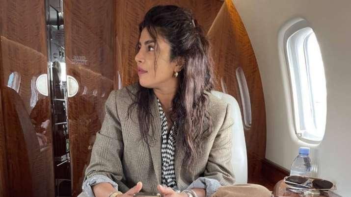 Candid photo of Priyanka Chopra sitting cross legged in private jet goes viral