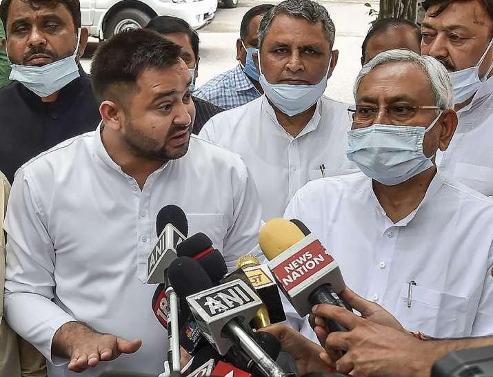 nitish kumar, tejashwi yadav, cancer institute, igims, collapse