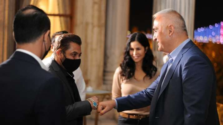 Salman Khan, Katrina Kaif meet turkish minister