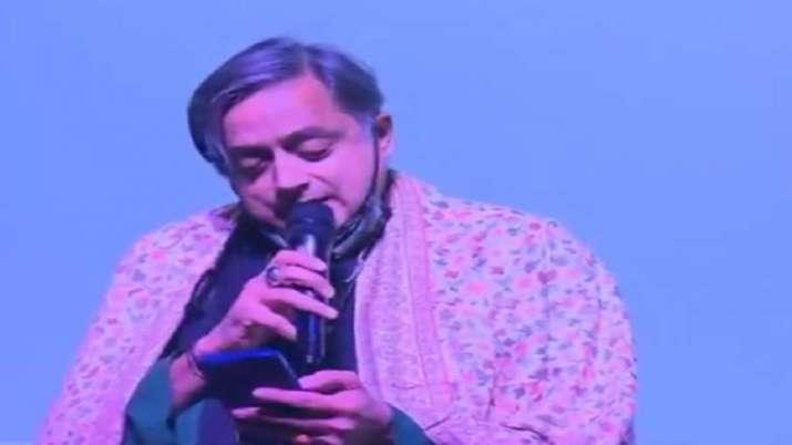 WATCH: Shashi Tharoor sings Ek Ajnabi Haseena se... Seen