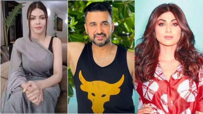 Sherlyn Chopra, Raj Kundra, Shilpa Shetty