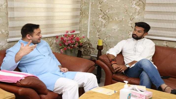 Chirag Paswan meets Tejashwi Yadav in Patna