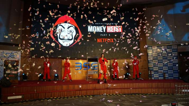 India Tv - Ananya Panday at BSE for Money Heist 5