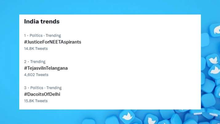 #JusticeForNEETAspirants, #JusticeForNEETAspirants Twitter trend no.1, #JusticeForNEETAspirants twit