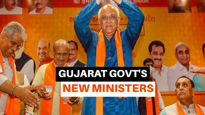 Gujarat govt new ministers, gujarat new ministers, cabinet ministers gujarat full list, gujarat cabi