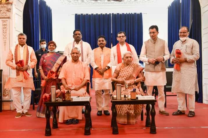 Uttar Pradesh Governor Anandiben Patel and Chief Minister