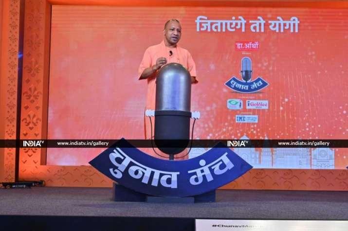 Uttar Pradesh Chief Minister Yogi Adityanath at India TV's Chunav Manch.
