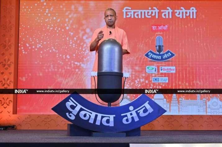 Uttar Pradesh Chief Minister Yogi Adityanath at India TV's