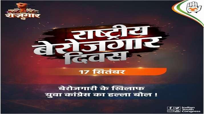 Youth Congress, National Unemployment Day, September 17, latest national news updates, srinivas BV,