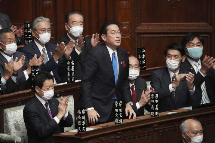 Japan's Parliament elects former diplomat Fumio Kishida as new Prime Minister
