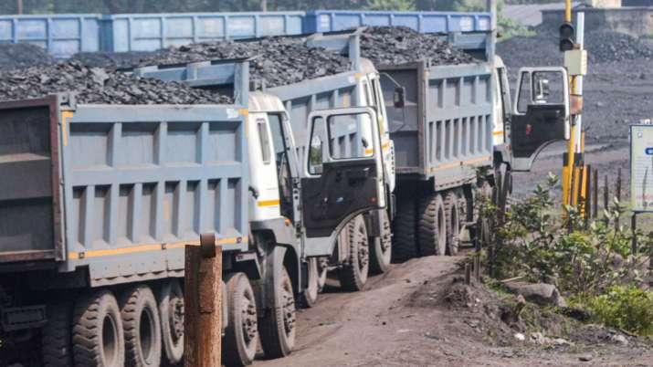 Coal transportation under progress at the coal mines of CIL