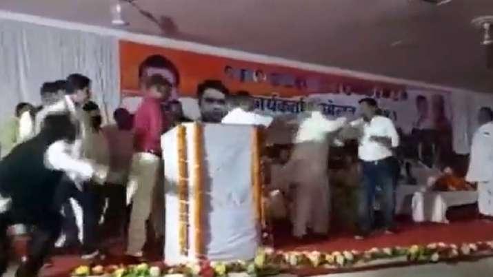 Chhattisgarh: Congress party meeting turns ugly as brawl breaks out in Jashpur   WATCH