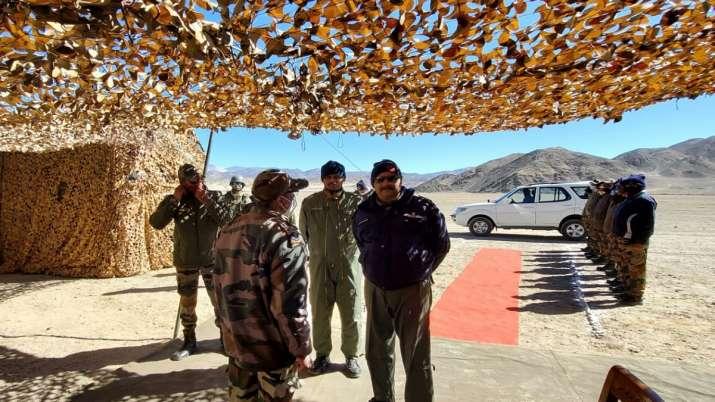 IAF Chief VR Chaudhari reviews operational preparedness of Force in Ladakh